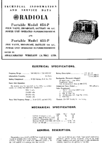 Instrukcja serwisowa AWA 454-P