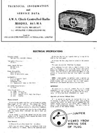 manuel de réparation AWA 461-MA