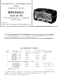 Manual de serviço AWA 467-MA