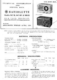 manuel de réparation AWA Radiolette 507-M