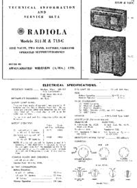 Руководство по техническому обслуживанию AWA Radiola 511-M