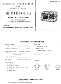 Servicio y Manual del usuario AWA RADIOLAS 512-M