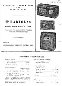 Instrukcja serwisowa AWA RADIOLAS 616-T