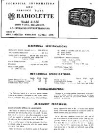 Service Manual AWA RADIOLETTE 516-M