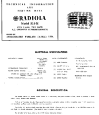 Manual de serviço AWA RADIOLA 518-M