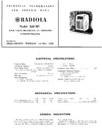 Instrukcja serwisowa AWA RADIOLA 520-MY