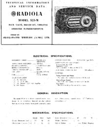 Manual de serviço AWA RADIOLA 523-M
