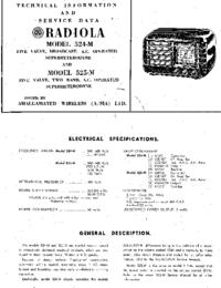 Manuale di servizio AWA RADIOLA 524-M