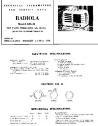 Servicehandboek AWA RADIOLA 526-M