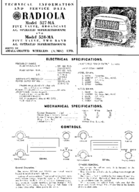 Servicehandboek AWA RADIOLA 528-MA