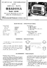 Instrukcja serwisowa AWA RADIOLA 532-MF