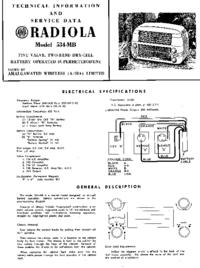 Руководство по техническому обслуживанию AWA RADIOLA 534-MB
