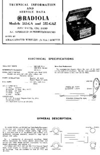 Service Manual AWA RADIOLA 535-GAZ
