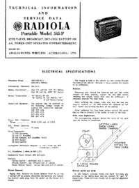 Servicehandboek AWA RADIOLA Portable 545-P