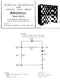 Service Manual Supplement AWA RADIOLA 564-GA