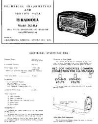 Service and User Manual AWA RADIOLA 565-MA