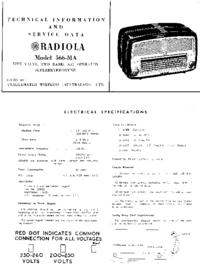 Service- und Bedienungsanleitung AWA RADIOLA 566-MA