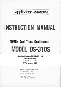 Servicio y Manual del usuario Aaron BS-310S