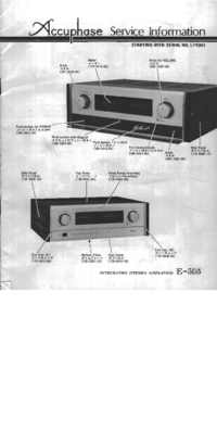Service Manual Accuphase E-305