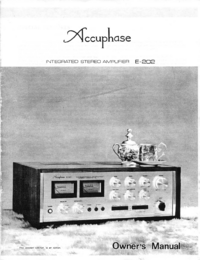 Manual do Usuário Accuphase E-202