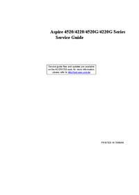 Manuale di servizio Acer Aspire 4520G
