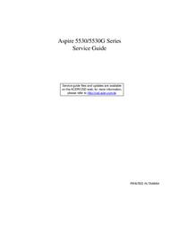 Руководство по техническому обслуживанию Acer Aspire 5530