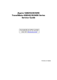 Serviceanleitung Acer TravelMate 4280