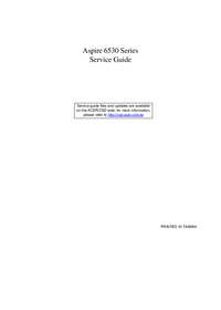 Руководство по техническому обслуживанию Acer Aspire 6530