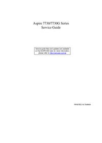 Руководство по техническому обслуживанию Acer Aspire 7730G Series