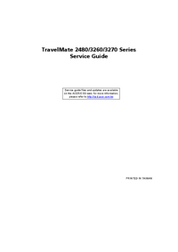 Manual de servicio Acer TravelMate 3260 Series