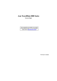 Instrukcja serwisowa Acer TravelMate 3000 Series