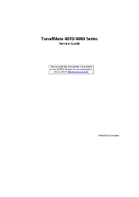 Service Manual Acer TravelMate 4070 Series