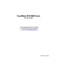 Manual de serviço Acer TravelMate 4070 Series