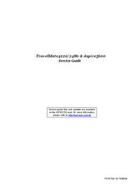 Manual de serviço Acer TravelMate 2480
