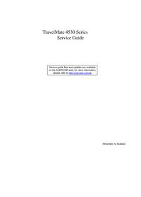 Manual de serviço Acer TravelMate 4530 Series