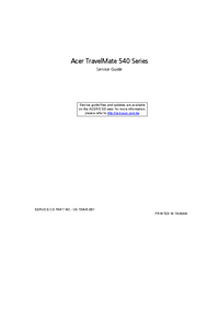 Service Manual Acer TravelMate 540 Series