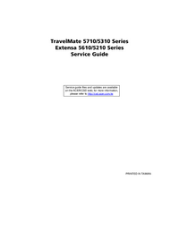 Manual de servicio Acer TravelMate 5710 Series