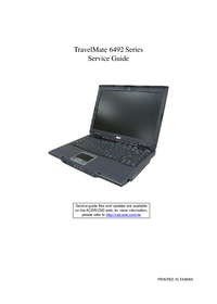Service Manual Acer TravelMate 6492 Series