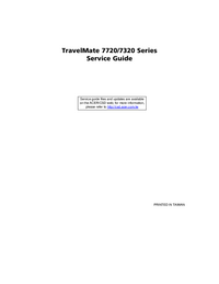 Serviceanleitung Acer TravelMate 7720 Series