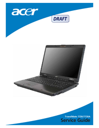 Manual de servicio Acer TravelMate 7730