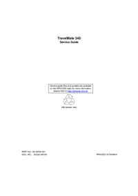 Manual de serviço Acer TravelMate 340