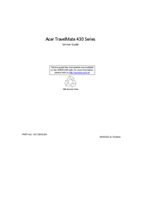 Serviceanleitung Acer TravelMate 430 Series