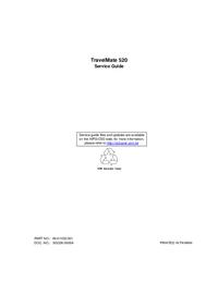 Servicehandboek Acer TravelMate 520