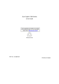Service Manual Acer Aspire 1300 Series