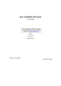 Servicehandboek Acer TravelMate 430 Series