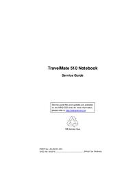 Instrukcja serwisowa Acer TravelMate 510