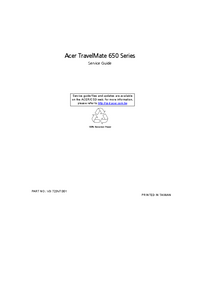 Service Manual Acer TravelMate 650 Series