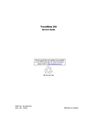 Service Manual Acer TravelMate 200