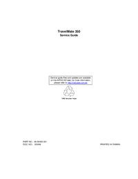 Instrukcja serwisowa Acer TravelMate 350