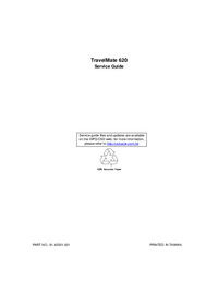 Руководство по техническому обслуживанию Acer TravelMate 620